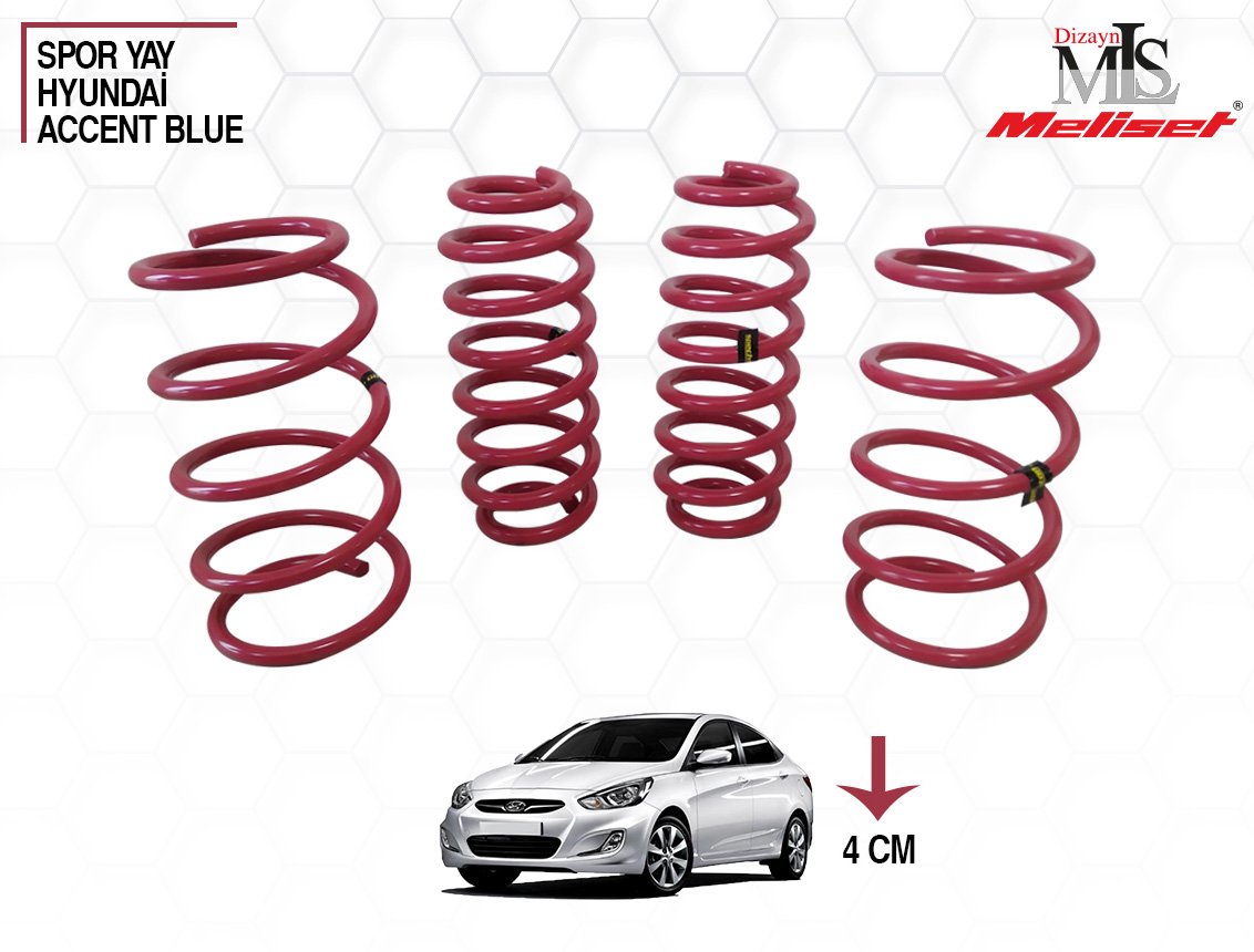 Hyundai Accent Blue Spor Yay Helezon 40mm İndirme