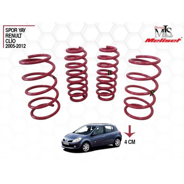 Renault Clio 3 Spor Yay Helezon 40mm İndirme 2005-2012 Arasına Uyumlu
