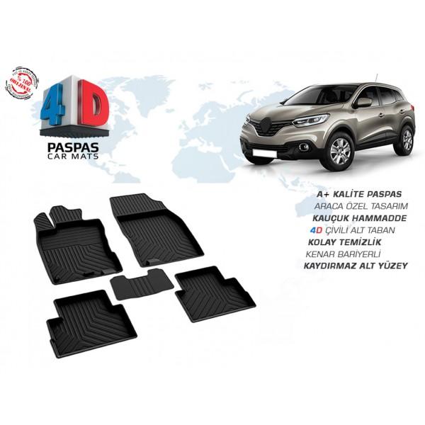 Renault Kadjar 4D Paspas Siyah 2014 ve Üzeri